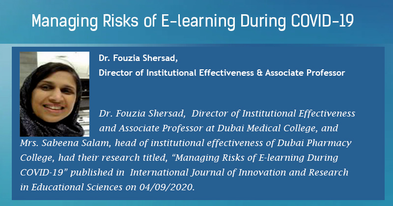 Managing Risks Of E-learning During COVID-19