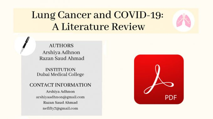 Lung Cancer And COVID-19